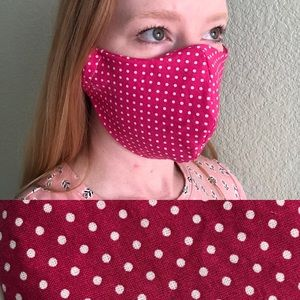 Accessories - NEW Adult Cotton Cloth Face Mask Polkadot OSFM
